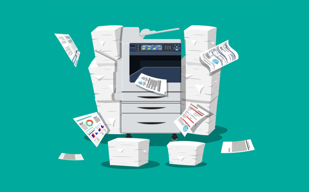 technical fault in printer
